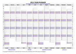 2011 Year Planner