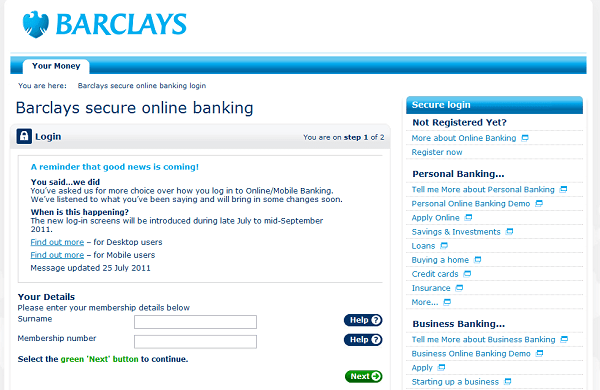 Barclays changes to internet mobile banking login money watch a few months ago we reported on barclays announcing changes to their internet and mobile banking login process and today theyve confirmed some of the reheart Images