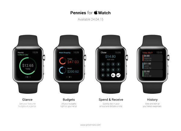 Pennies Apple Watch App