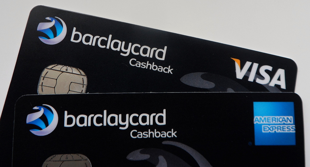Barclaycard Visa and American Express credit cards