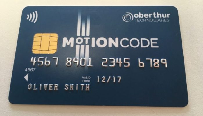Motion Code card