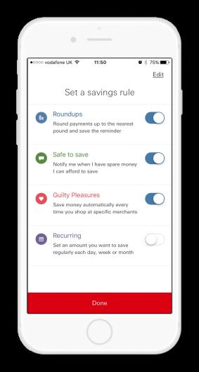 HSBC savings app screenshot