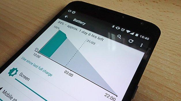 Как показать процент заряда батареи на Nexus 6