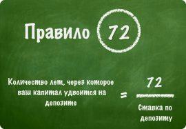 Законы капитала. Расчет по «Правилу 72»