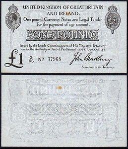 BRING BACK the Bradbury Pound! Towards 100th Anniversary