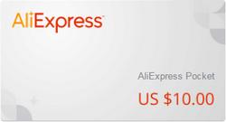 подарочный сертификат алиэкспресс 10$