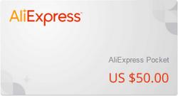 подарочный сертификат алиэкспресс 50$