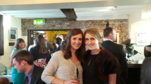 Myself and Claire @ the wedding!