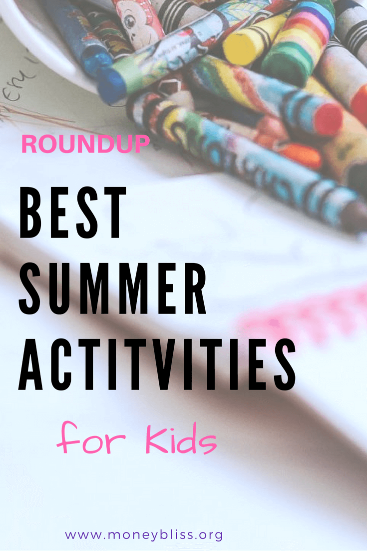 No summer boredom here! Be prepared for summer and bored kids. Find plenty of activities to do on summer vacation. Find free activities for kids. Create memories with these summer activities for kids. #summer #activities #kids #roundup #free #frugal #moneytips