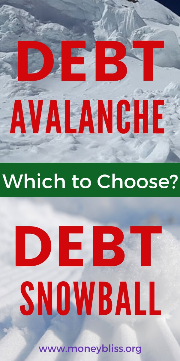 Debt snowball - is the Dave Ramsey method to pay off debt the only way? Use our calculators and figure out which method works for you. Start with free printable and worksheets to help pay off out debt. Debt snowball vs debt snowball explained. #debt #finances #moneybliss