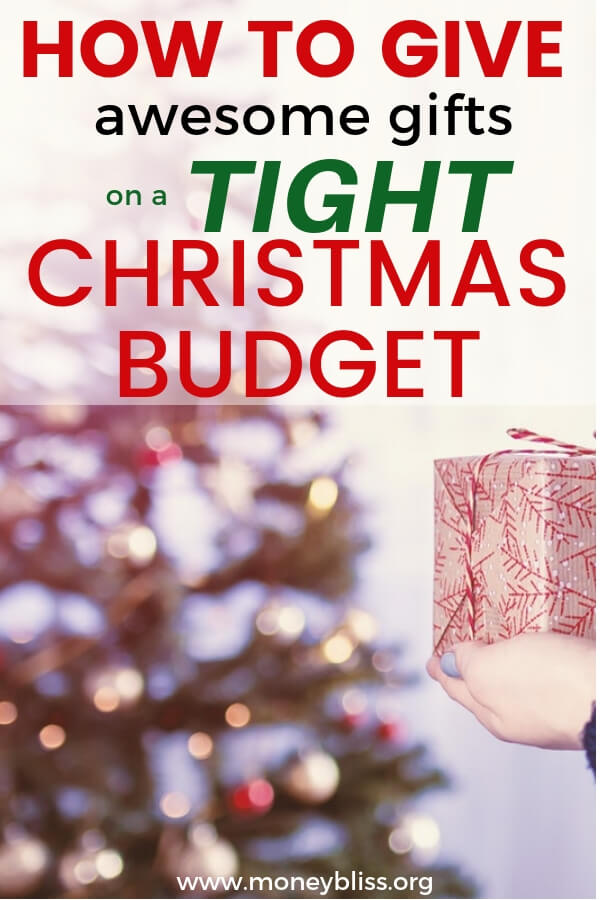 Tight Christmas budget this year? Check out this list of inexpensive or free presents that will impress. Get your awesome gift ideas. #christmas $gifts #moneybliss