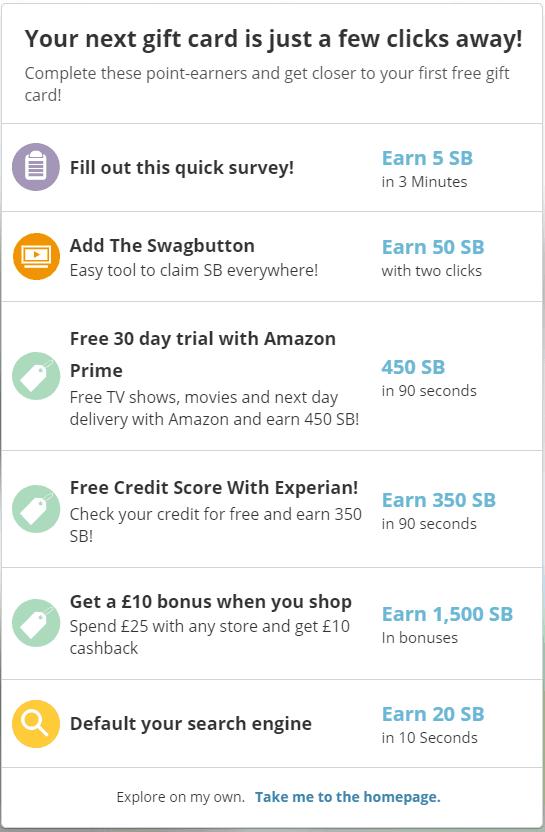 swagbucks profile survey
