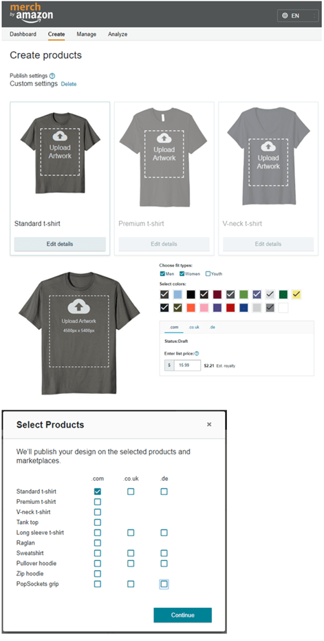 How to upload your designs on Merch by Amazon?