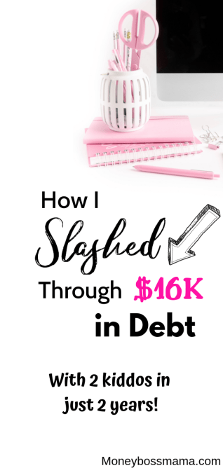 Paying off debt on one income isn't the easiest thing to do, but it's definitely possible! Since starting my debt free journey, I've paid off over $16K in debt-even when on a low income! Check out these tips to help you get out of debt fast! #debtfreestory #debtstrategies