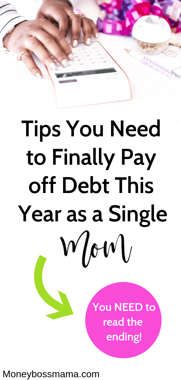 This post is perfect for single moms! Learn how to pay off debt as a single mom, even on a low income. I was able to pay off over $15K in debt by using these money tips and increased my income. #moneytipsformoms #payoffdebt #moneysavingtips #budgetingtips #inspirationaltipsformoms #howtosavemoney #moneymanagement #payoffdebtononeincome #stoplivingpaychecktopaycheck