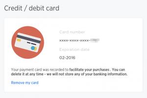 自動填寫信用卡資訊