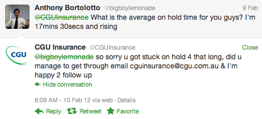 Insurance and twitter