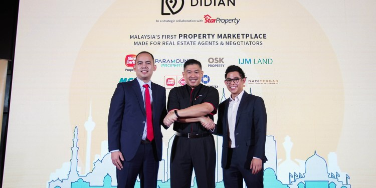 Groupshot after the official launch of Didian, Malaysia's first B2B marketplace: (From left) Chow Nam Kit, Director of Didian Realtor Sdn Bhd, Ernest Towle, Assistant General Manager of StarProperty and Brian Wong, Chief Technology Officer of Didian Realtor Sdn Bhd.