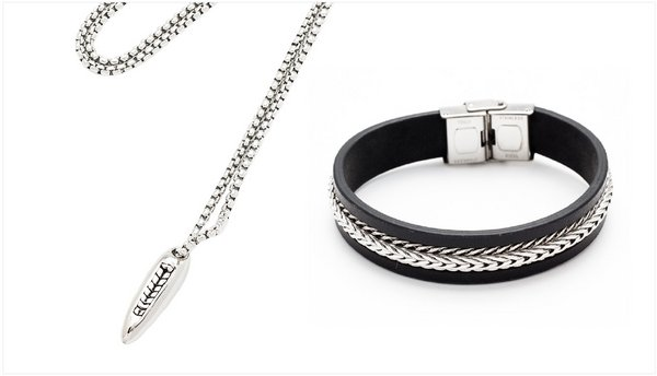 Photo credit: Stainless steel chain necklace and Men's bracelet by Sunfun Trading Co Ltd