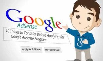10 Things to Consider Before Applying for Google Adsense Program
