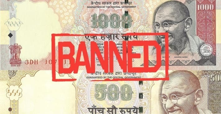 ban on rs 500 Rs 1000 notes