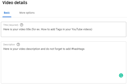 youtube hashtags and description hashtags
