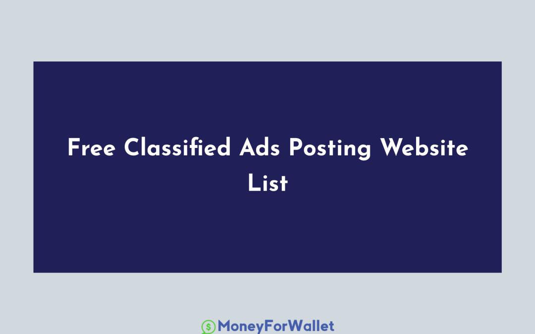 200+ Best Free Classified Ads Posting Website List
