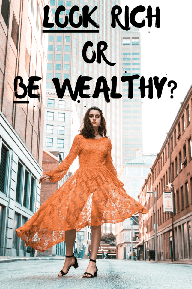 Which matters more to you: LOOKING financially successful or BEING financially successful? Are you being honest with yourself? #buildwealth #moneyhabits #honesty