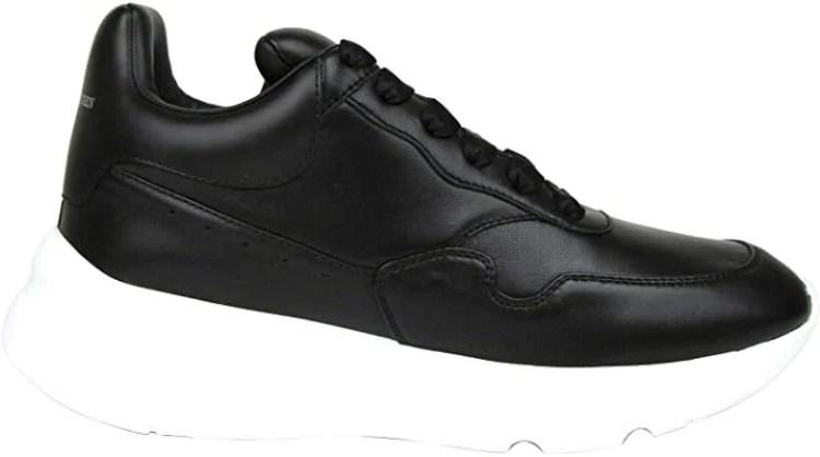 Alexander McQueen - Men's Black Leather Platform Sneakers