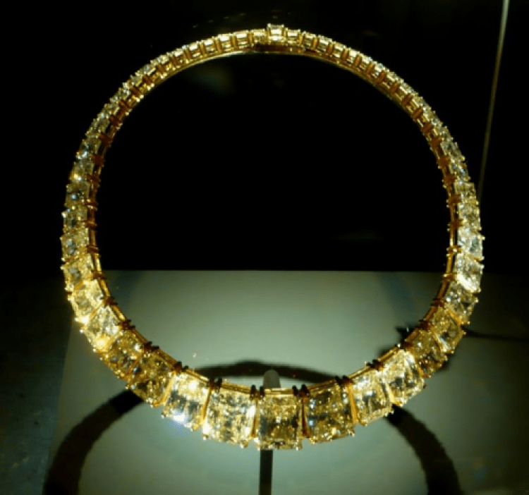 Cartier 1980s Colored Diamond Necklace