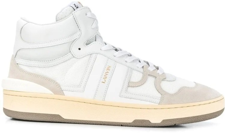 Lanvin Leather Clay High-Top Sneakers