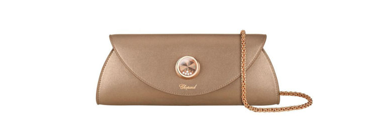 Chopard Happy Clutch Red Carpet Limited Edition Metallic Leather Clutch