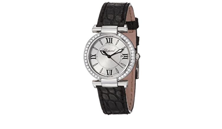 Chopard Imperiale Silver Dial Diamond Bezel Ladies Watch 388541-3003
