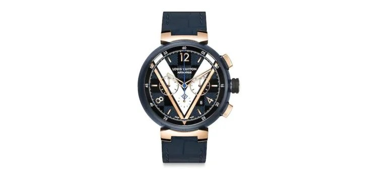 Louis Vuitton Tambour Daimer Cobalt Blue And Gold Chronograph 46
