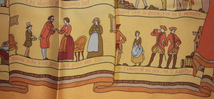 Hermes Silk cashmere twill scarf Les Proverbs Sont La Sagesse Des Nations