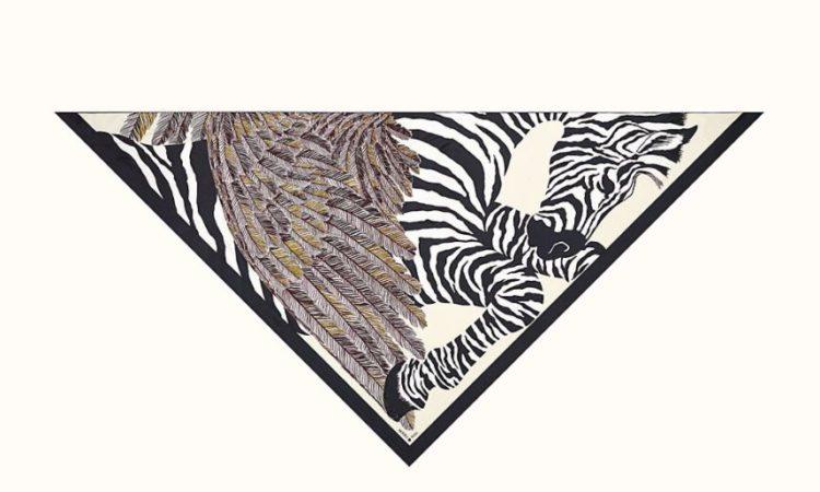 Hermes Zebra Pegasus embroidered giant triangle