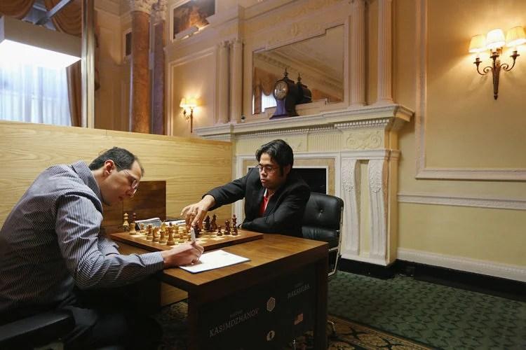Hikaru Nakamura and Rustam Kasimdzhanov