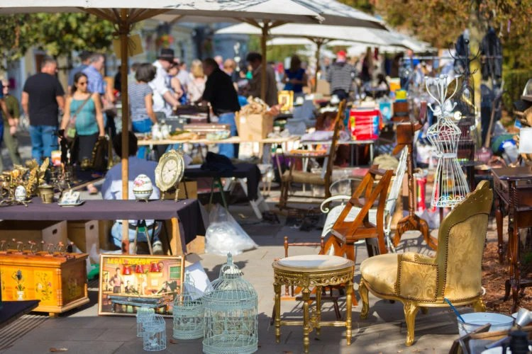Stalls at Owls Nest Flea Market and Antiques