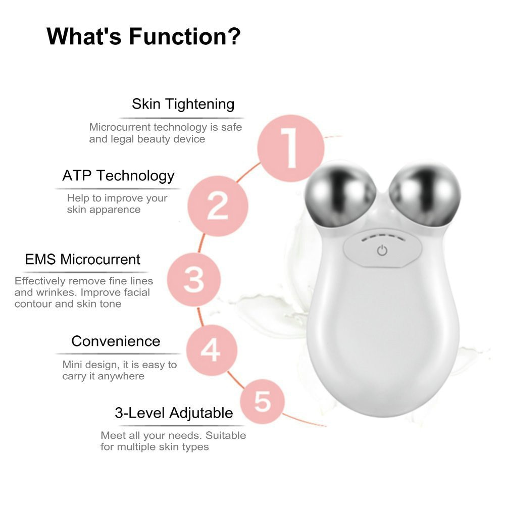 Face Lifting Machine Skin Tightening Toning Set Massager Antiaging Remove Wrinkle