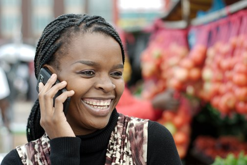 Nigerian mobile phone user