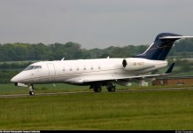 A private Jet owned by Femi Otedola, chairman, Forte Oil