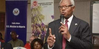 Chief of Public Affairs Unit, United States Consular General to Nigeria, Russel Brooks Photo credit: Gbemile Oluwatosin
