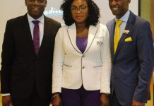 L-R: Ohis Ehimiaghe, SAA Regional Manager, North, West and Central Africa; Kemi Leke-Bamtefa, SAA National Sales Manager, Nigeria and Wellington Mpofu, RadissonBlu Anchorage Hotel Lagos Director of Sales at the SAA/RadissonBlu corporate travel managers forum in Lagos.
