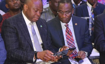 MD/CEO Fidelity Bank, Mr. Nnamdi Okonkwo and the Lagos State Deputy Governor Of Lagos State, Dr Obafemi Hamzat at the Fidelity SME Funding Connect-Lagos held in Lagos.