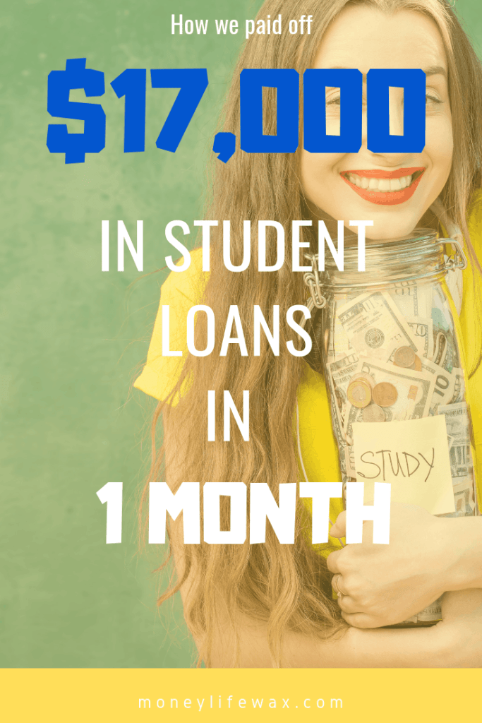 how we paid off student loans
