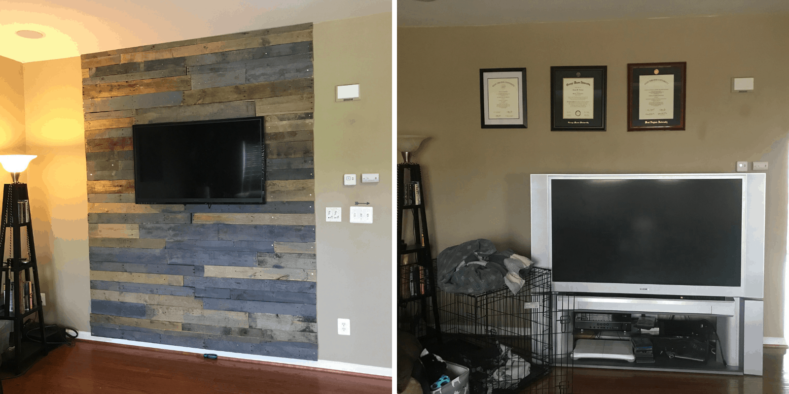 Step By Step Diy Pallet Wall On A Budget Money Life Wax