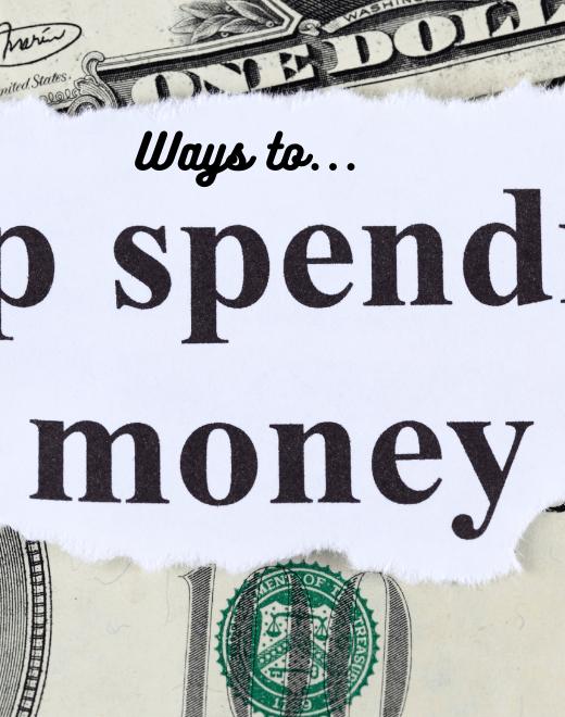 ways to stop spending money