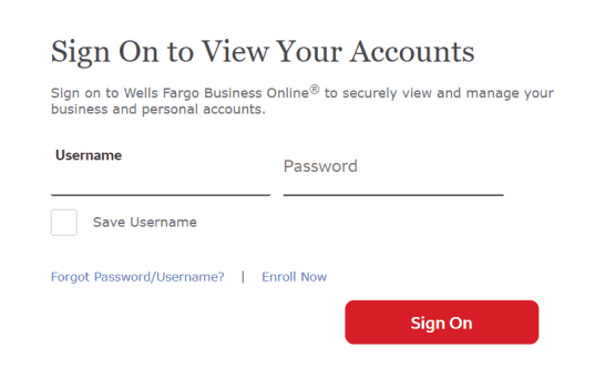 sign into wells fargo account