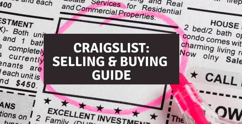 how to sell on craigslist