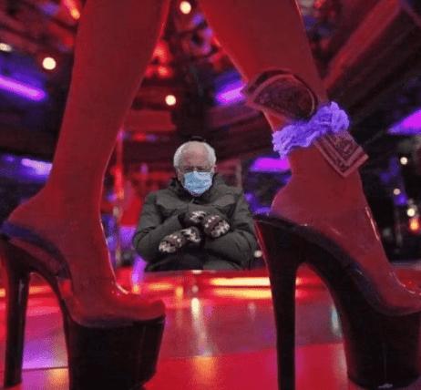 strip club bernie meme